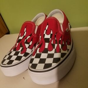 TRADE Vans Checkered Flame Shoes